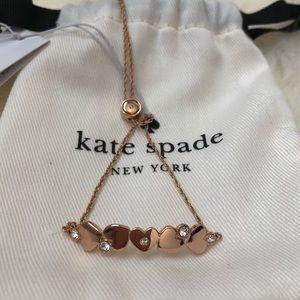 NEW Kate Spade Love List Rose Gold Slider Bracelet